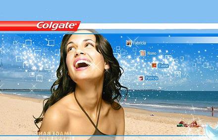 Кастинг - зубная паста Colgate